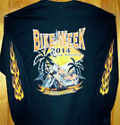 2014 Daytona Beach Bike Week Sweatshirt Black Sz Sm - 5XL  BEACH PALMS BIKE