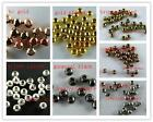 Silver/Gold/Copper Ball Spacer Beads 4mm/5mm/6mm/8mm/10mm 7Colors-1 H222-H253