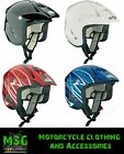 SPADA EDGE MOTORCYCLE TRIALS MOTO X OFF ROAD HELMET; RED, BLUE, BLACK or WHITE