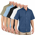 Men's work Shirts Dickies Short Sleeve Industrial Button Down Poplin Shirt LS500
