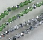 Silver/Green Crystal Faceted Gemstone Loose Beads 4.5mm K59 K60