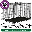 Black Dog Crate Kennel - Pet Playpen Cage w / ABS Tray Pan