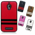 For Alcatel One Touch Fierce TPU Multi Color Stripe Flexible Case Accessory