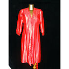 Ladies Satin Short Nightdress & Gown Set Lace Detail Size 10 to 24 6 Colours