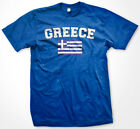 Greece Distressed Greek Pride Flag World Cup Soccer Olympics Mens T-Shirt