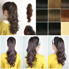 UK  Premium Deluxe Clip In Ponytail Hair ClawJaw Pony Tail Hairpiece XMAS New Yr