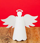 5 3D white Standing Angel die cuts accucut plain white decorate kids craft xmas