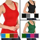 4pk Racerback Ribbed Microfiber Tank Top Stretch Fit Workout Layering One Size