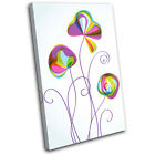 Flower Abstract Floral SINGLE CANVAS WALL ART Picture Print VA