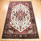 Samark Cream Rugs - 332W A Traditional Floral Wilton Rug In Persian Designs