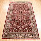 Samark Red Rugs - 113R A Traditional Floral Wilton Rug In Persian Designs