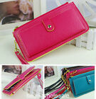 New  PU Leather Women Card Zip Wallet Purse Handbag Clutch 10 color to chooose