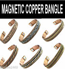 Magnetic Copper Bangle Bracelet Therapy Health Ethnic Design for Men or Women