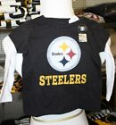 Pittsburgh Steelers TODDLER GIRLS LONG SLEEVED 2 TOP LOOK T SHIRT infant NEW