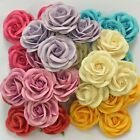 10 PCS MULBERRY PAPER ARTIFICIAL ROSE HEAD FLOWERS LOT CRAFT 5 cm./2 inches
