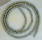 2mm Natural Pyrite Round Beads 15.5""