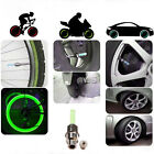 LED Neon Wheel Spoke Tire Tyre Valve Dust Cap Light Car Bike Bicycle Motorcycle