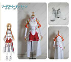 Hot Sword Art Online Asuna Yuuki cosplay costume cloth and shoes custom made