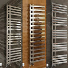 Designer Chrome Modern Bathroom Heated Towel Rail Thermostatic Electric Radiator