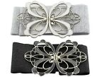 BONAMART Fashion Women Bowknot Elastic Fabric Wide Belt Waistband Cinch