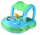 Sunshade baby buggy Swim Seat Boat kid child float pool fun inflatable Horn Car