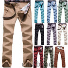 Skinny Mens Slim Fit Stretch Pencil Jeans Trousers Long Casual Pants 11 Colors