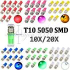 2/10/15/20x T10 501 W5W 5 SMD 5050 LED Side Light Interior Number Plate Bulb UK