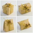 Luxury DIY Ivory Gold  Wedding Christmas Table Party Favour Gift Boxes- BOX ONLY