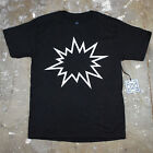 Mens Simple Minimal Modern Art Graphic Pow Bang Humor Graphic T Shirt New Black