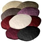 (Mn) Shimmer Crushed Crinkle Velvet Style Round Cushion Cover/Pillow Case