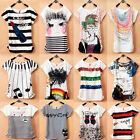 Women's Korean Fashion Short Sleeve Loose Casual T-Shirt Tops Blouse 14 Colors