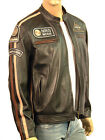 RETRO  Cafe Racer Biker Style Real Leather Nappa Jacket Black S M L XL XXL