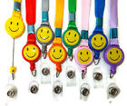 Smiley Face Neck Strap Lanyard with Retractable Reel YoYo ID Clip M2