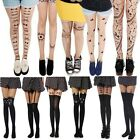 Sexy Women Cat Tail Gipsy Mock Knee High Hosiery Pantyhose Tattoo Legging Tights