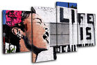 Life is Beautiful  Banksy Street MULTI CANVAS WALL ART Picture Print VA