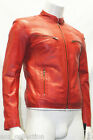 Carter Mens Gents Red Designer Real Sheep Nappa Lambskin Washed Leather Jacket