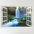 Full Colour Waterfall Forest River Scene Wall Sticker Art Decal mural transfer