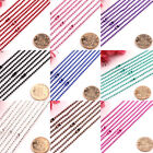 10pcs Various Colors Mini Ball Linked Metal Necklace Chain Jewelry Findings