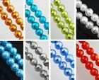 10/25pcs Silver Foil Inside Lampwork Glass Round Loose Finding Spacer Beads 10mm