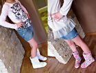 KIDS GIRLS SUMMER BOOTS SANDALS BIKER ANKLE RIDING SCHOOL KNITTED SHOES pink 2A