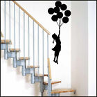 LARGE BANKSY FLOATING AWAY GIRL BALLOON WALL ART STICKER UK SAME DAY DESPATCH