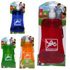 SPORTS WATER DRINKS FOLDING BOTTLE TRAVEL REUSABLE COLLAPSIBLE HIKING CAMPING