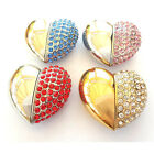 CRYSTAL HEART PENDANT SILVER GOLD USB 8GB FLASH MEMORY STICK Pen Drive Stick
