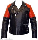 Men's Black Biker Style Sports Motorcycle Real Classic Stylish Leather Jacket