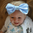 LARGE DOUBLE BOW HEADBAND, FLORAL / SPOT   CHILD / BABY, FREE P/P