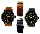 Easy Reader Watch Excellent Quality Genuine Leather Strap Men's Wrist Watches
