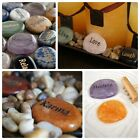 Engraved Word Worry Stone WISH STONE Meditation Gemstone