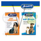 Johnsons Ear Drops or Cleanser for Dogs/Cats Kills Ear Mites Drops, Wax Softner