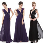 Ever Pretty V-Neck Lace Black Prom Maxi Evening Party Dresses Formal Gown 08068