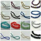 70PCS X 8MM FACETED RONDELLE CRYSTAL GLASS BEADS - PICK COLOURS